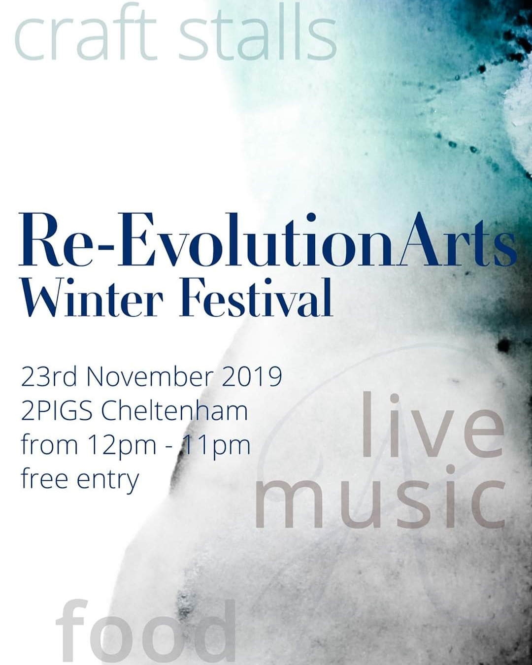 Down Not Out news 🐷Re-Evolution Arts Winter Festival 🐷